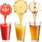 fruta ou suco de fruta