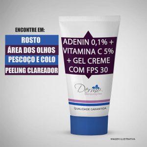 adenin 0,1% vitamina c 5 gel creme fps30 remove manchas