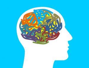 ilistração da cabeça humana com o cérebro